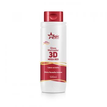 Gloss Matizador 3D Mega Red - Efeito Vermelho Intenso - 500ml