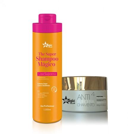 14 Combo - The Super Shampoo Mágico 1000ml + Máscara antiemborrachamento