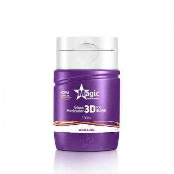 Mini Gloss Matizador 3D Ice Blond - Efeito Cinza - 100ml