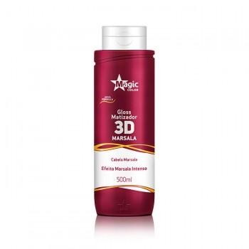 Gloss Matizador 3D Marsala - Efeito Marsala Intenso - 500ml